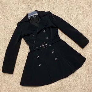 Bebe Belted Fit and Flare Trech Coat